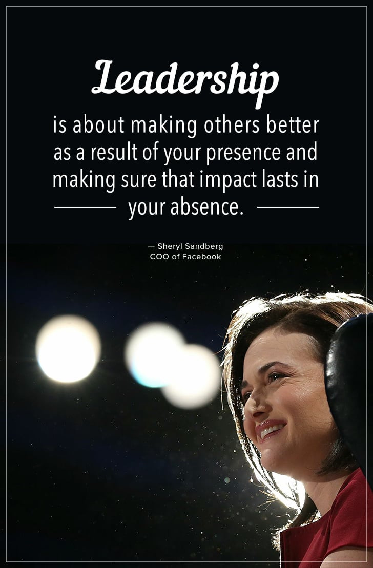 "Leadership Quotes By Women  ""Leadership is about making others better as a result of"