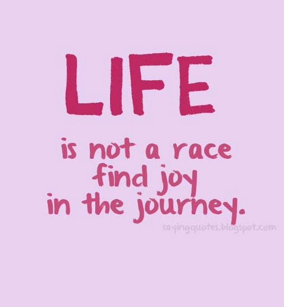 Life Is A Race Quotes  Life is not a race find joy in the journey