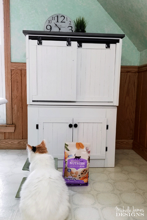 Litter Box Furniture DIY  DIY Farmhouse Style Cat Litter Box Furniture For The Home