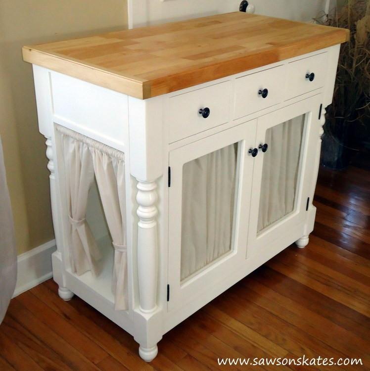 Litter Box Furniture DIY  DIY Kitty Litter Cabinet Hides UGLY Litter Box
