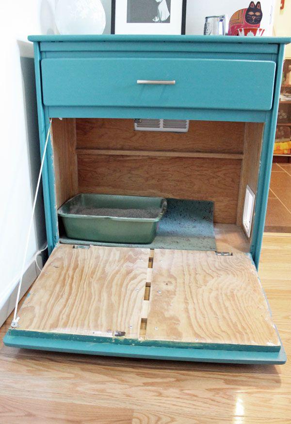 Litter Box Furniture DIY  25 best ideas about Hidden Litter Boxes on Pinterest