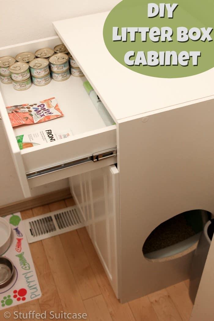 Litter Box Furniture DIY  DIY Litter Box Furniture Cabinet & Laundry Room Cleanup