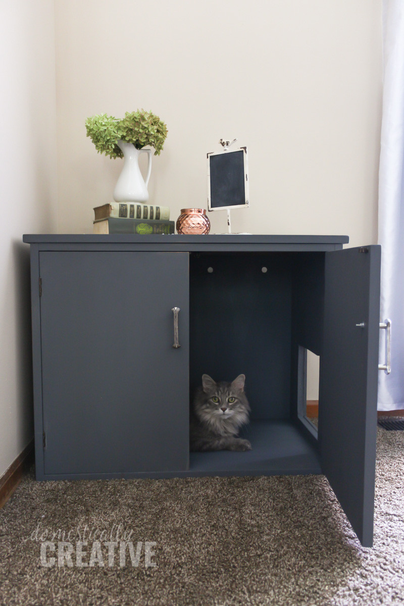Litter Box Furniture DIY  DIY Litter Box Cabinet