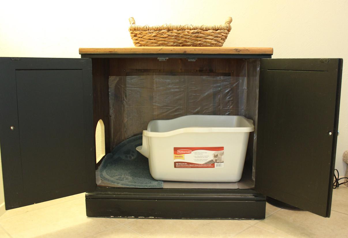 Litter Box Furniture DIY  An Easy DIY Cat Litter Box Ideas