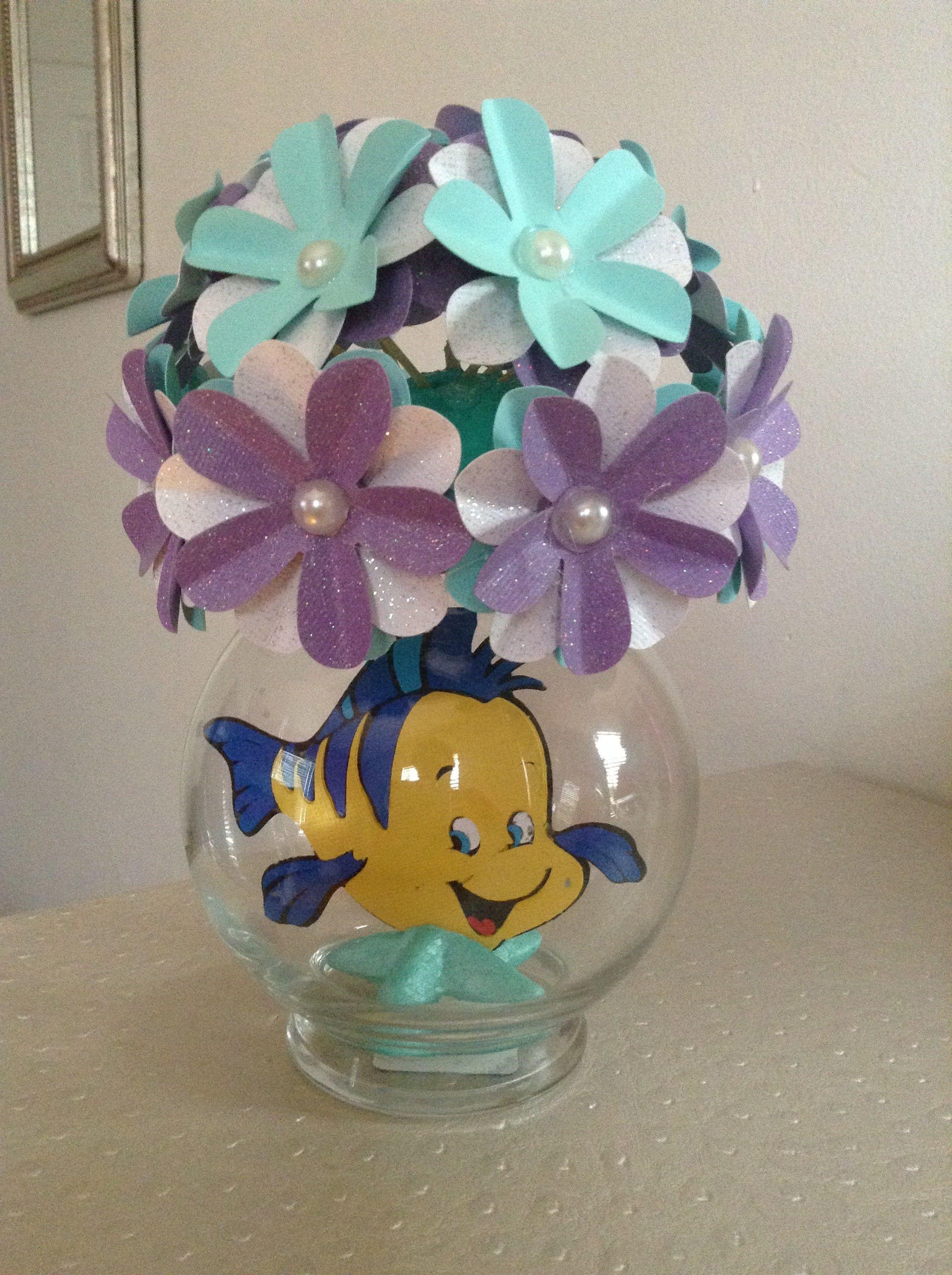 Little Mermaid Party Centerpiece Ideas  Little Mermaid Flounder Party Centerpiece