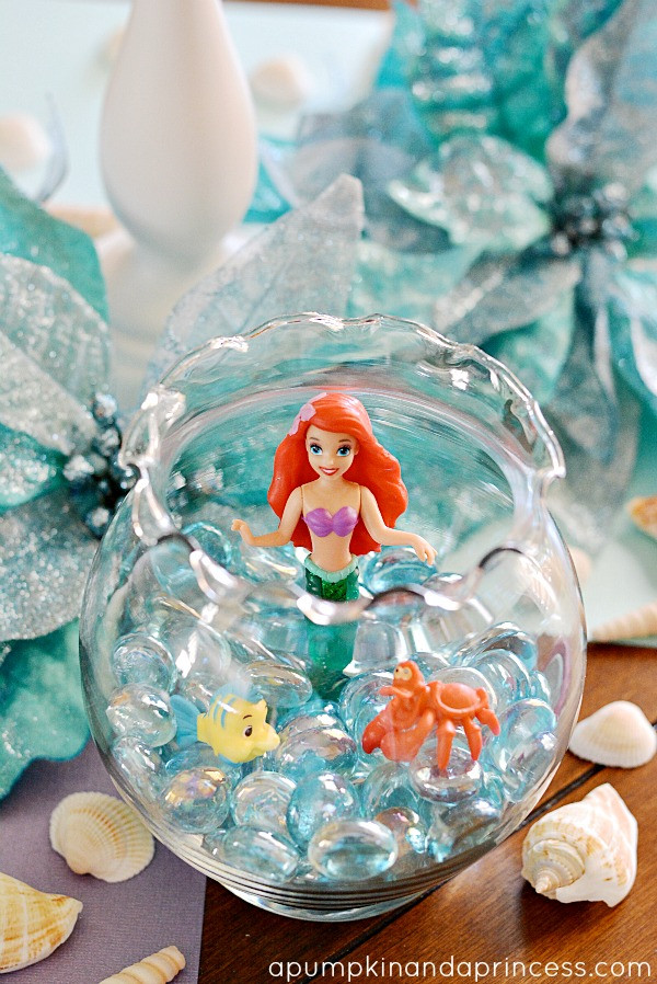 Little Mermaid Party Centerpiece Ideas  The Little Mermaid Party A Pumpkin And A Princess