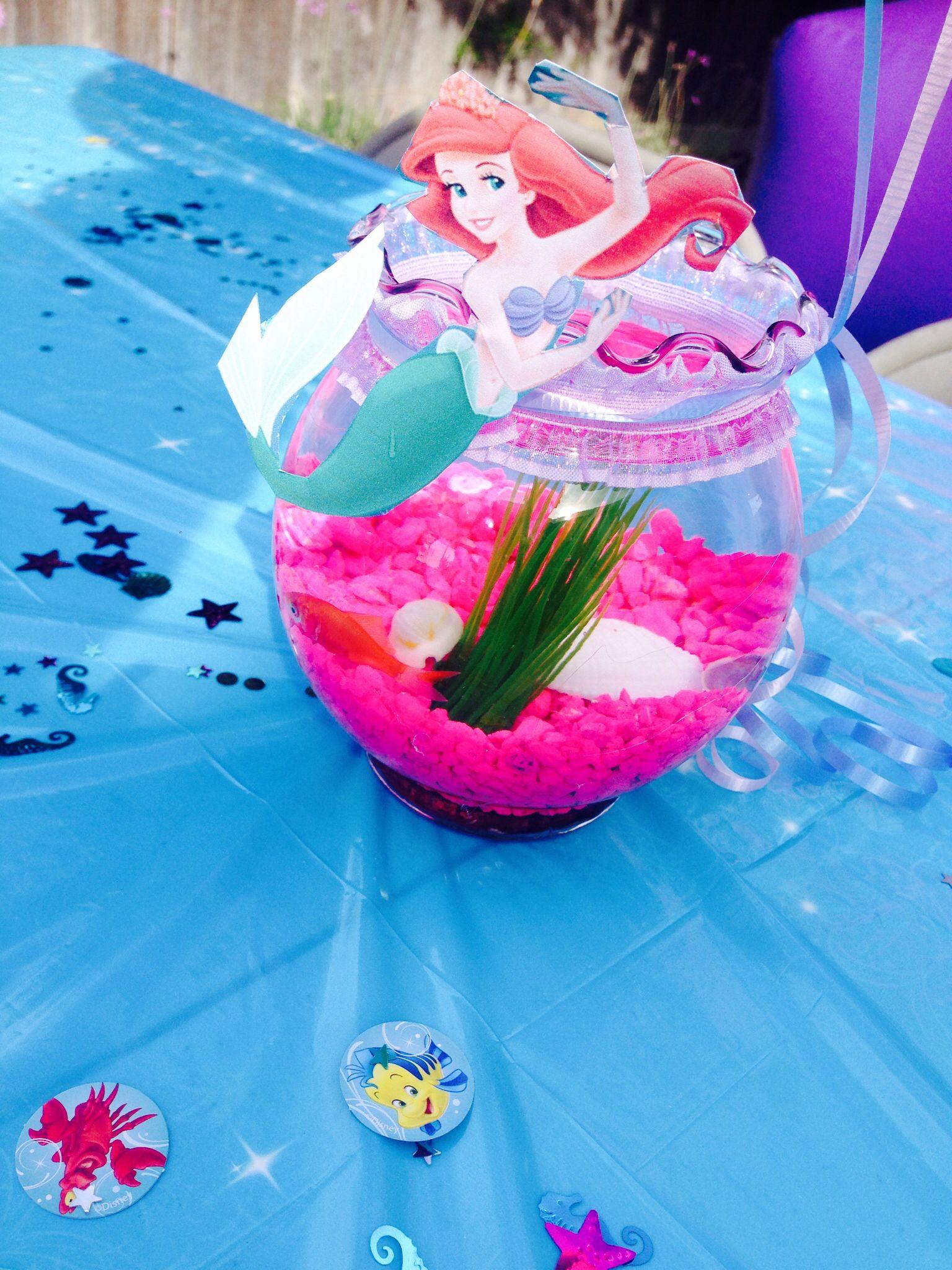 Little Mermaid Party Centerpiece Ideas  Little Mermaid fishbowl centerpieces
