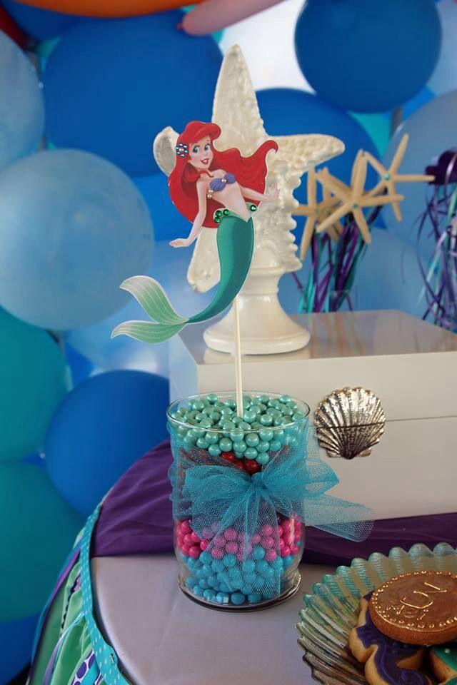 Little Mermaid Party Centerpiece Ideas  Little Mermaid Centerpiece stick