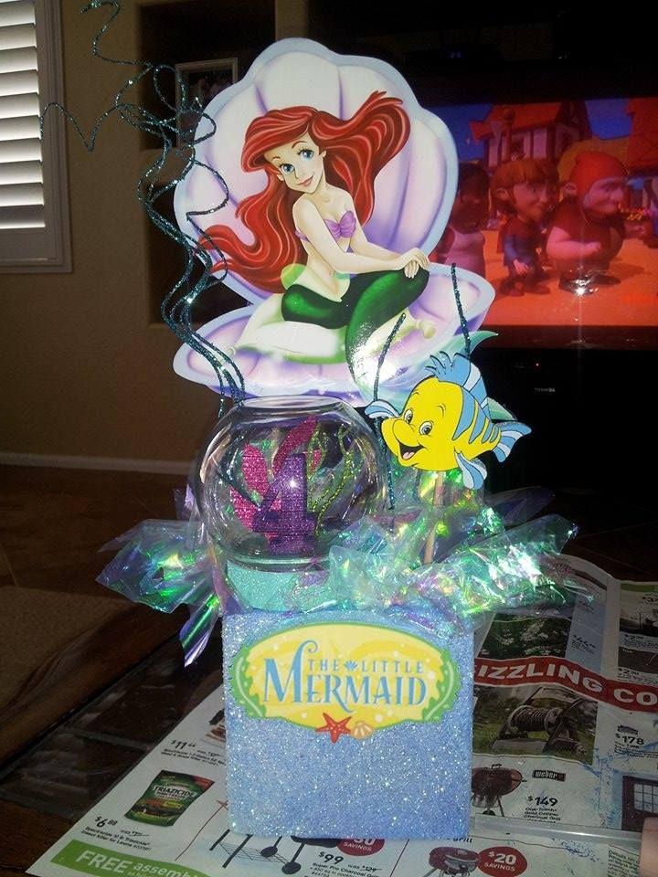 Little Mermaid Party Centerpiece Ideas  The Little Mermaid Centerpiece
