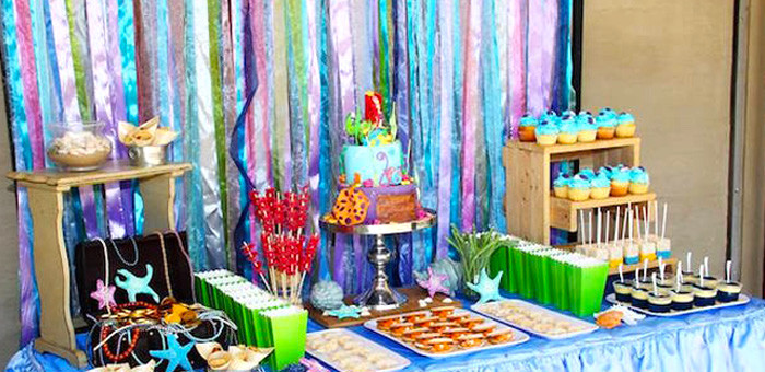 Little Mermaid Party Decoration Ideas  Kara s Party Ideas Little Mermaid Party Ideas Archives