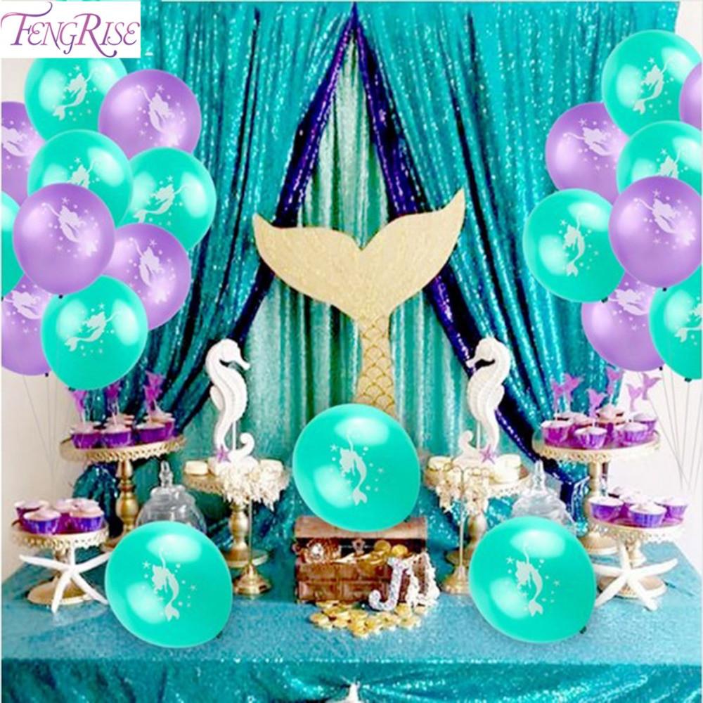 Little Mermaid Party Decoration Ideas  FENGRISE Little Mermaid Party Decoration Baby Shower