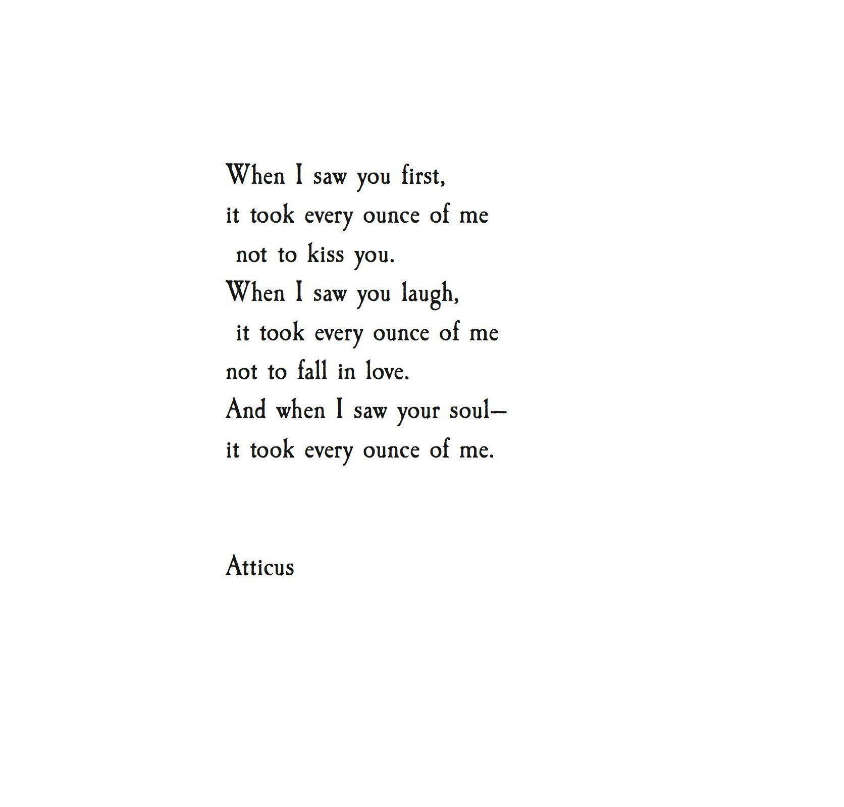 Love Poems And Quotes  Atticus Poetry on Me