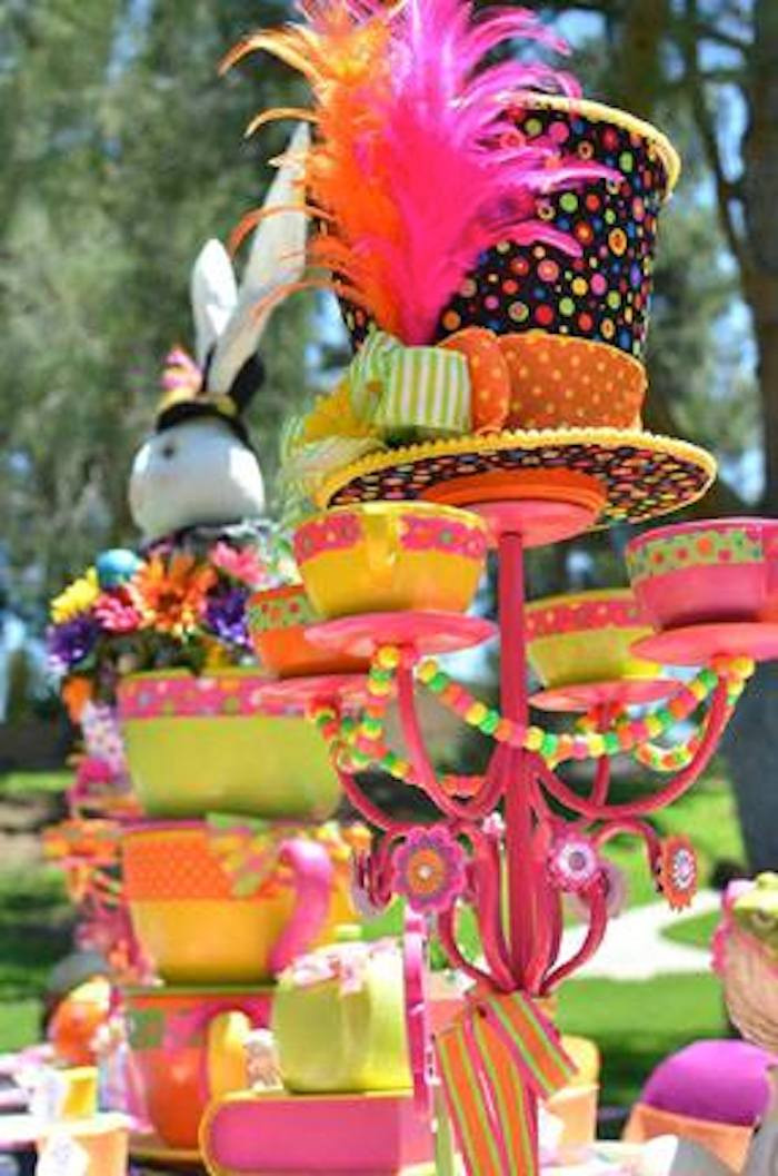 Mad Hatter Tea Party Decoration Ideas  Kara s Party Ideas AlIce In Wonderland Mad Hatter Themed