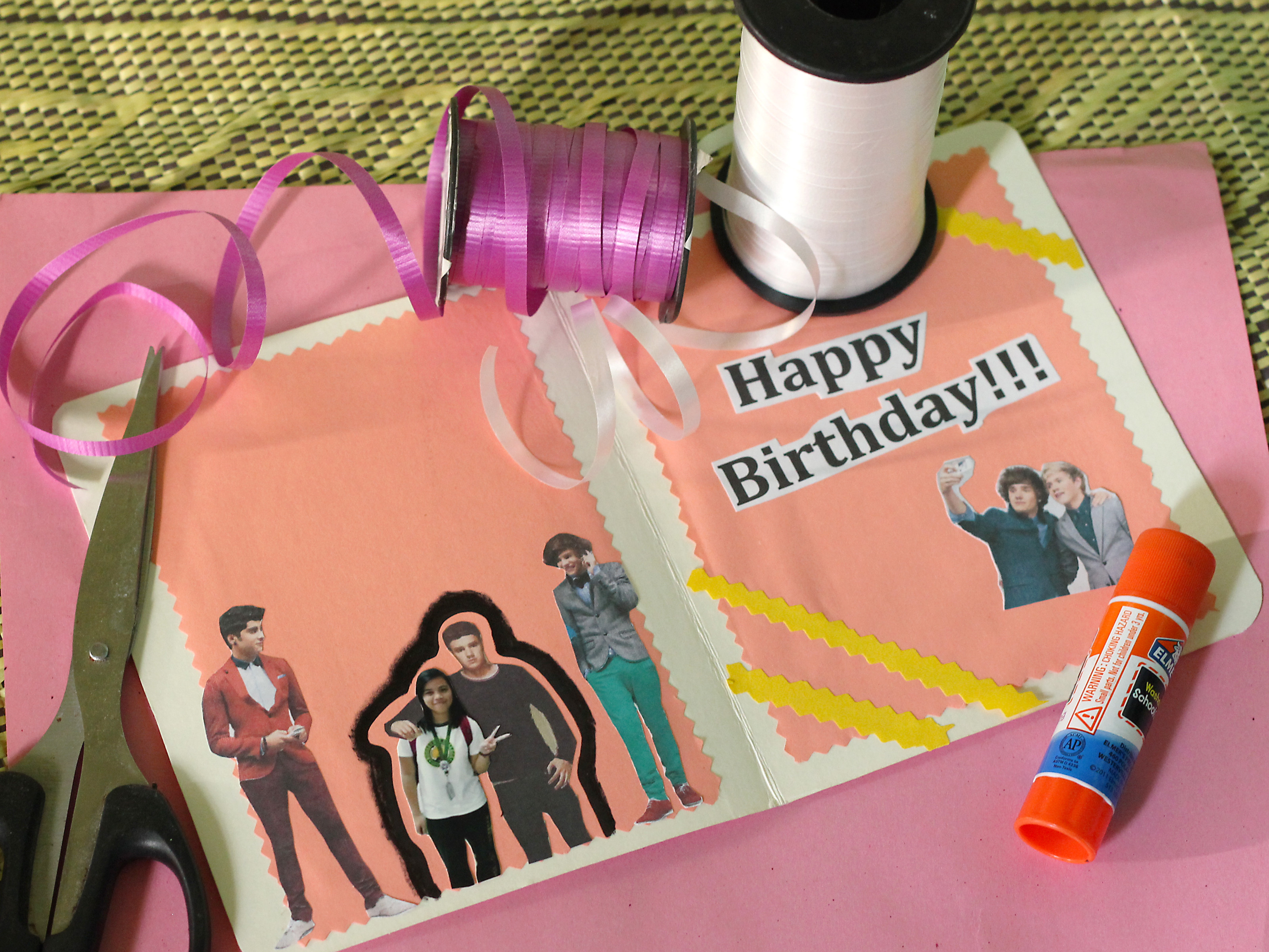 Make A Birthday Card Online  How to Make a Birthday Card for a e Direction Fan 7 Steps