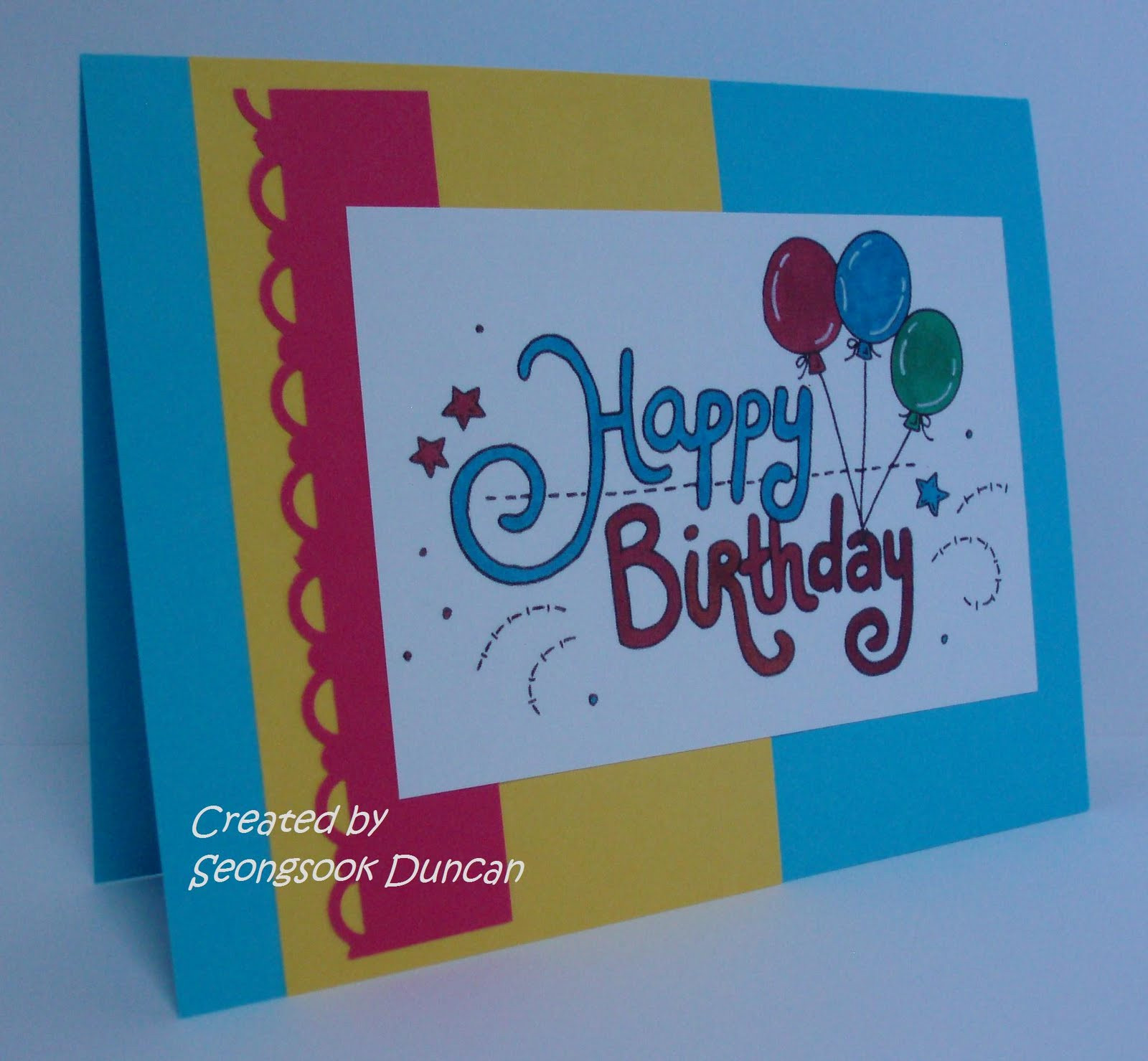 Make A Birthday Card Online  Create with Seongsook A Stack Happy Birthday Cards
