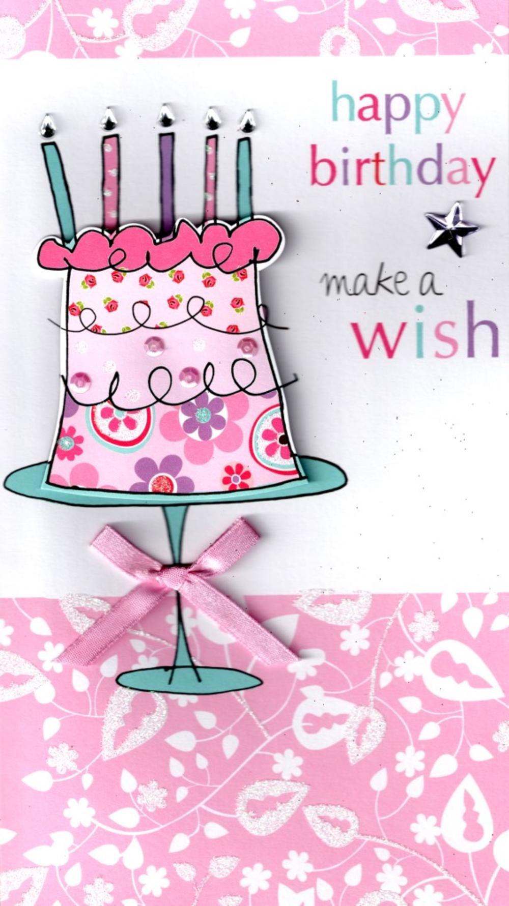 Make A Birthday Card Online  Make A Wish Happy Birthday Greeting Card Cards