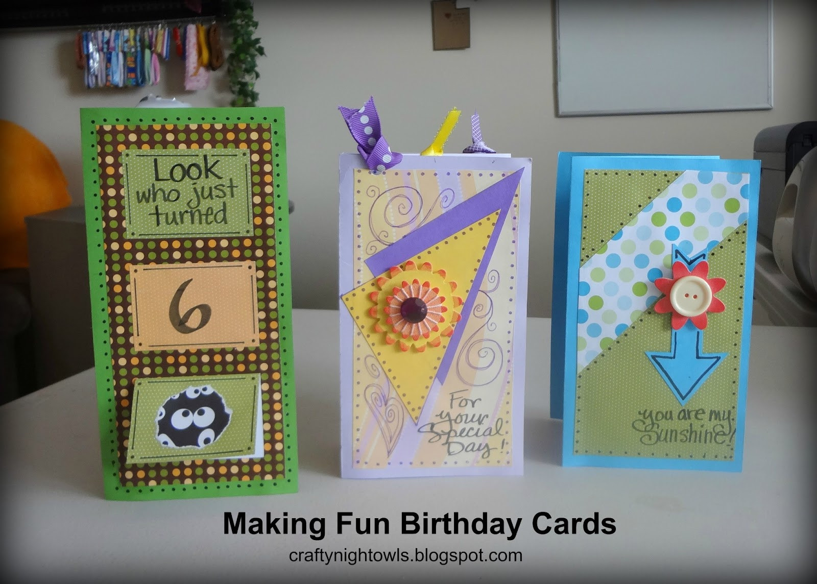 Make A Birthday Card Online  Crafty Night Owls Make Your Own Personalized Birthday Cards