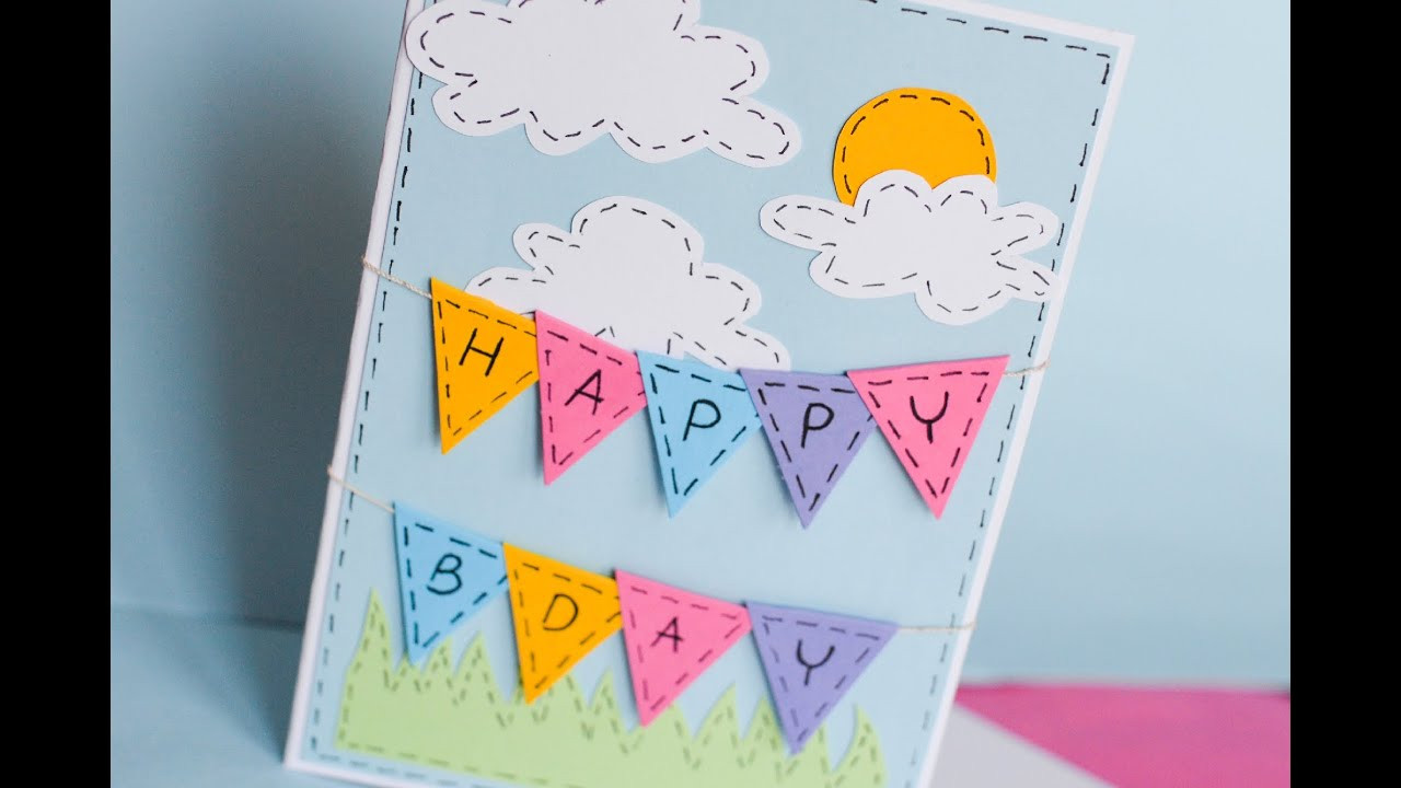 Make A Birthday Card Online  How to Make Greeting Birthday Card Step by Step