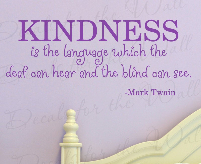 Mark Twain Kindness Quote  Chandeliers & Pendant Lights