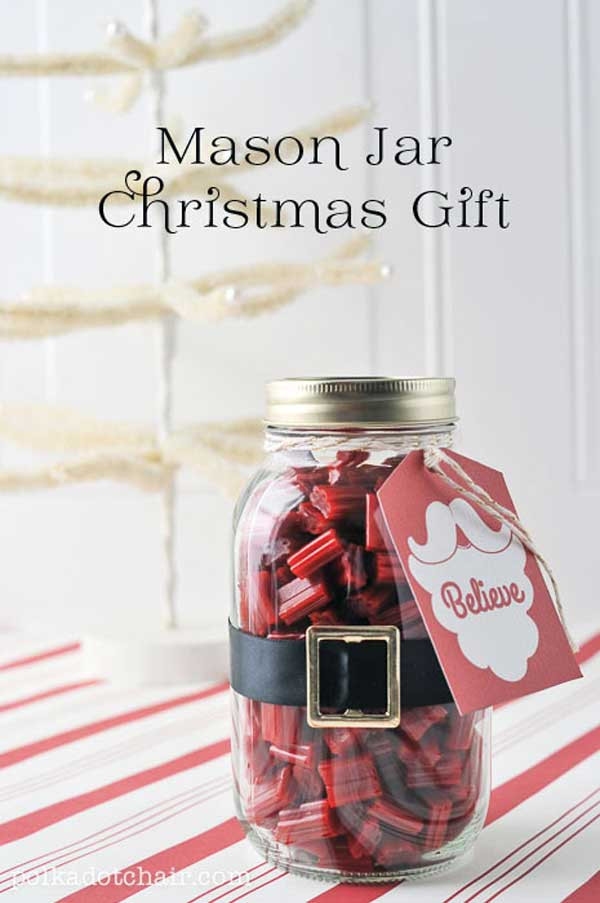 Mason Jar Gift Ideas For Christmas  22 Quick and Cheap Mason Jar Crafts Filled With Holiday Spirit