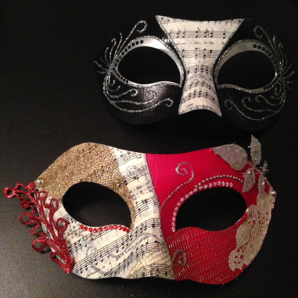 Masquerade Masks DIY  DIY Masquerade Masks by Circle City Creations