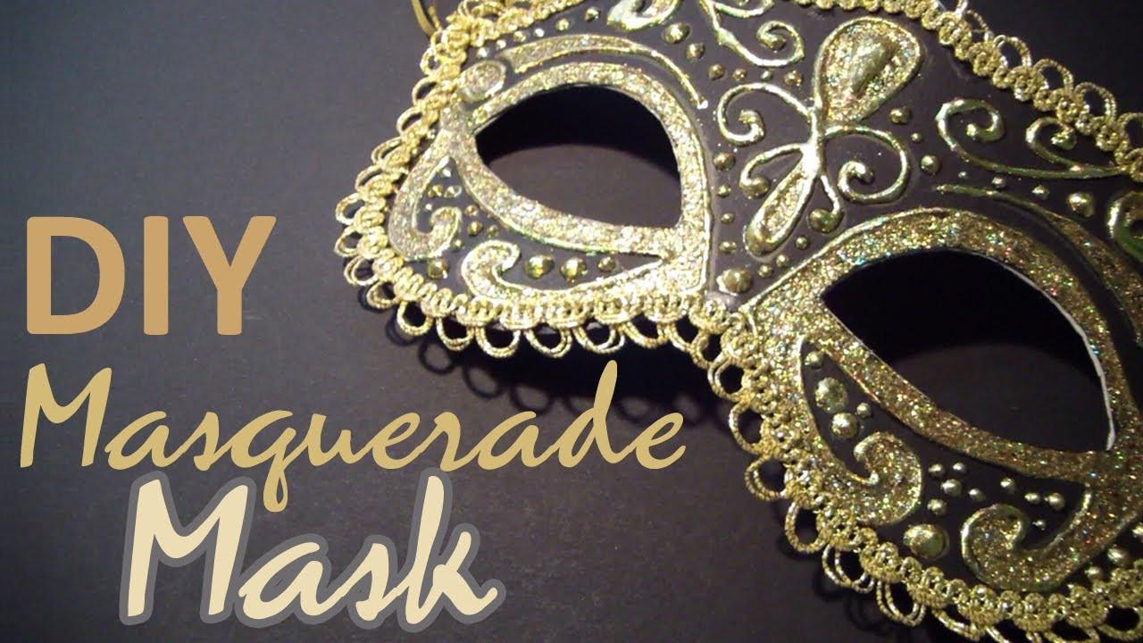 Masquerade Masks DIY  DIY Masquerade Mask from scratch