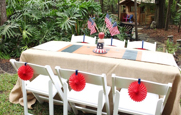 Memorial Day Pool Party Ideas  Kara s Party Ideas Patriotic Memorial Day Backyard BBQ