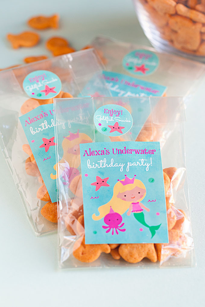 Mermaid Party Gift Bag Ideas  3 DIY Mermaid Party Favor Ideas Party Inspiration
