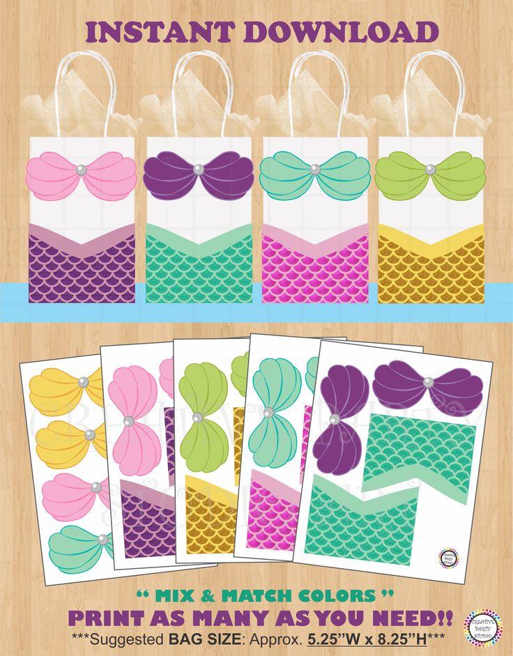 Mermaid Party Gift Bag Ideas  Best 20 Mermaid Invitations ideas on Pinterest