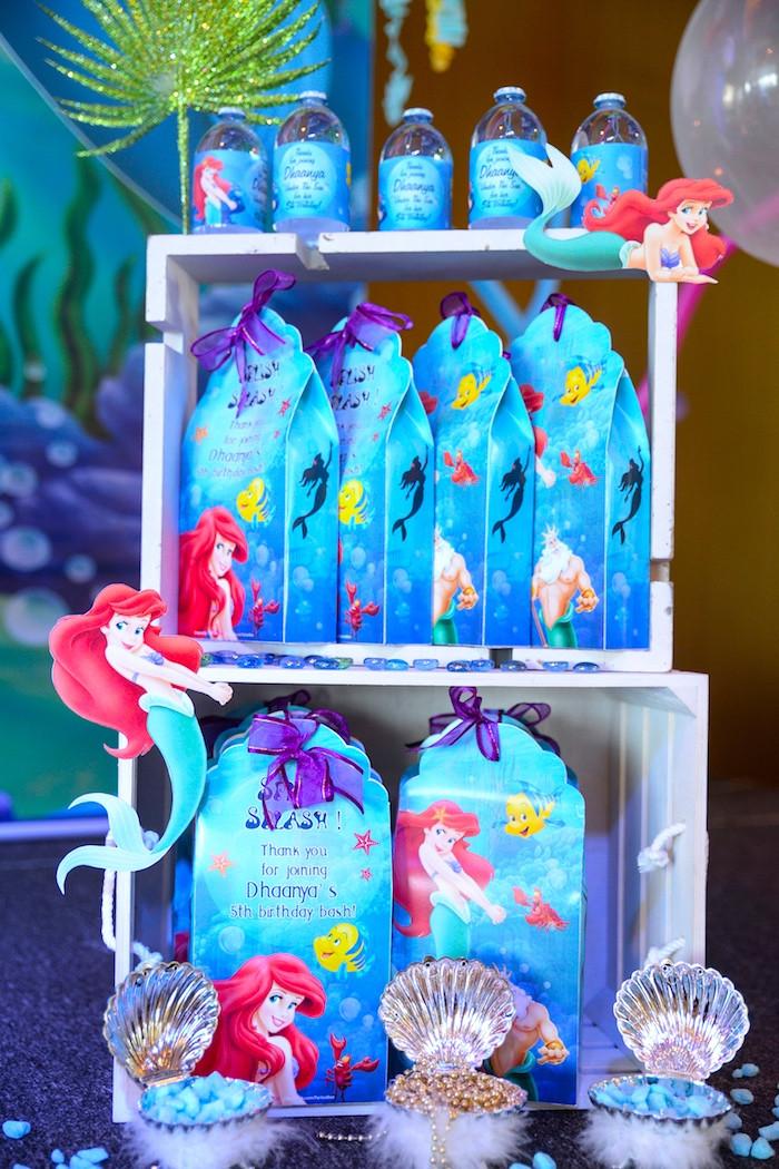 Mermaid Party Gift Bag Ideas  Kara s Party Ideas Ariel the Little Mermaid Birthday Party