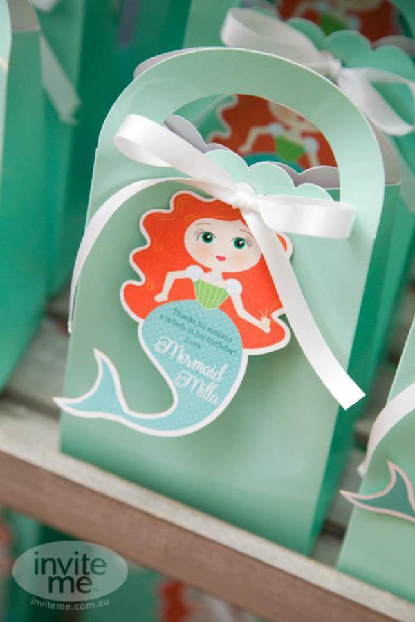 Mermaid Party Gift Bag Ideas  Kara s Party Ideas Mermaid Beach Ocean Girl Ariel 5th