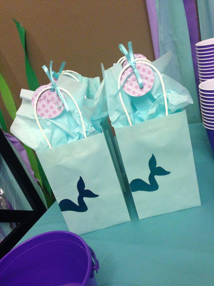 Mermaid Party Gift Bag Ideas  Mermaid Merman Under the Sea Summer Party