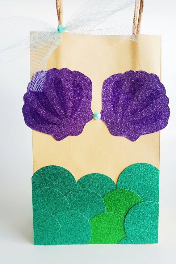 Mermaid Party Gift Bag Ideas  Mermaid Party Favor Bags