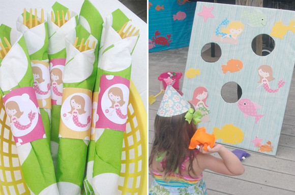 Mermaid Party Ideas 4 Year Old  A Mermaid Birthday Party for a 4 Years Old At Home with