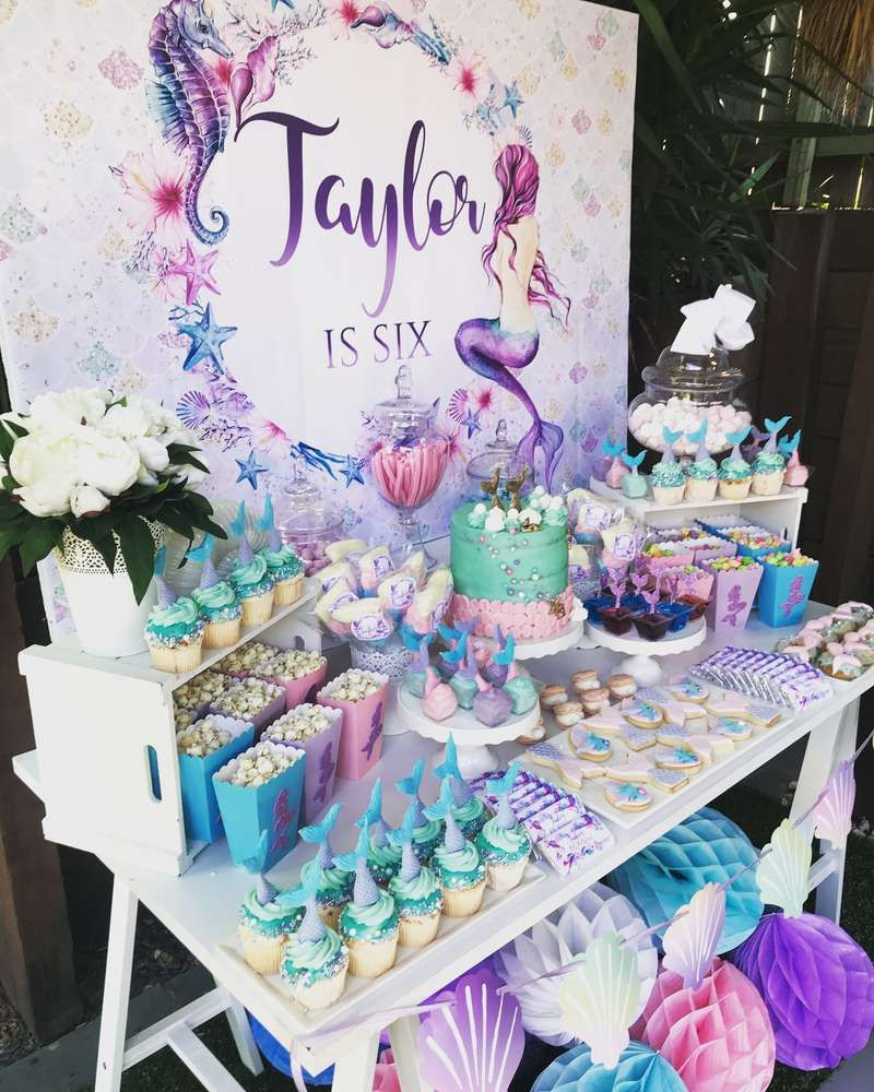 Mermaid Party Ideas 4 Year Old  Mermaid Birthday Party Ideas in 2019