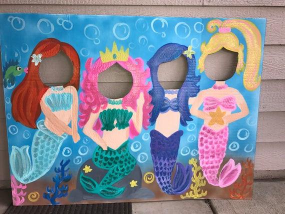 Mermaid Party Ideas 4 Year Old  Mermaid Party Mermaid Birthday Mermaid Cutout Mermaid