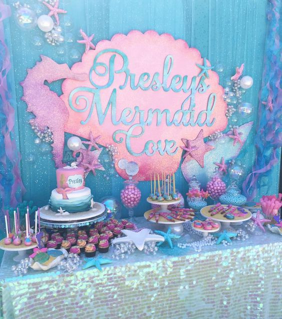 Mermaid Party Theme Ideas  29 Magical Mermaid Party Ideas Pretty My Party Party Ideas