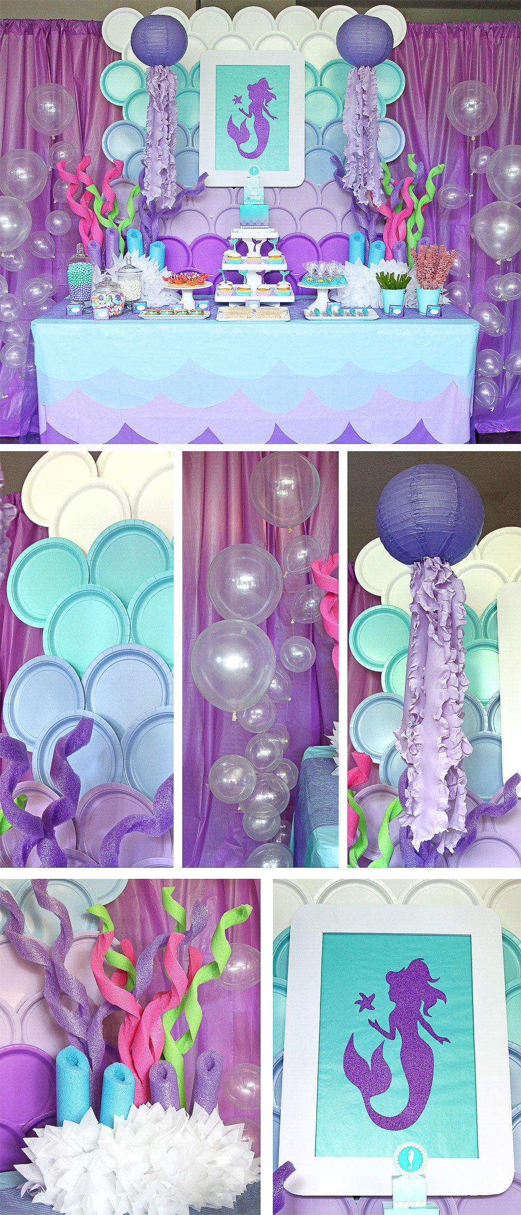 Mermaid Party Theme Ideas  Mermaid Party Ideas