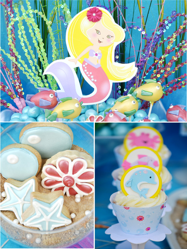 Mermaid Under The Sea Party Ideas  Under The Sea Mermaid Birthday Party Party Ideas
