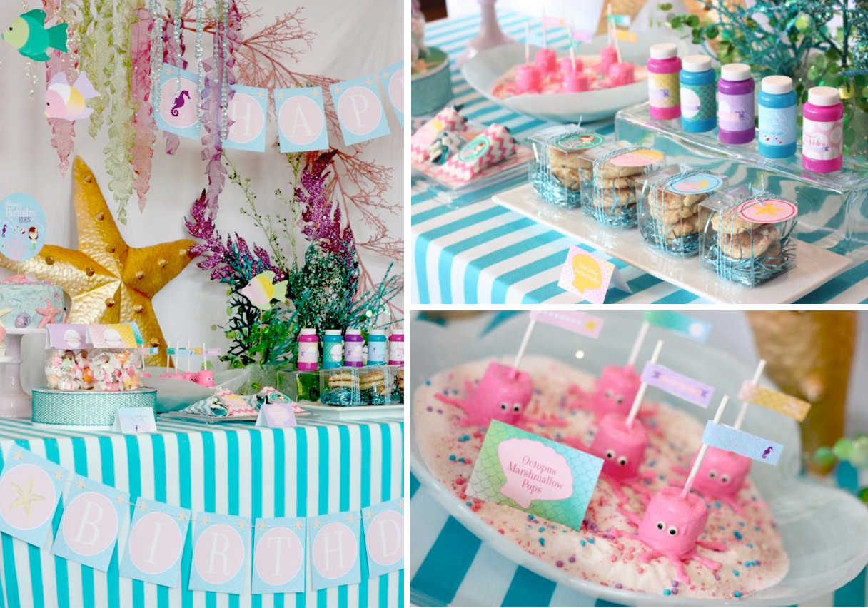 Mermaid Under The Sea Party Ideas  Kara s Party Ideas Whimsical Mermaid Girl Under the Sea
