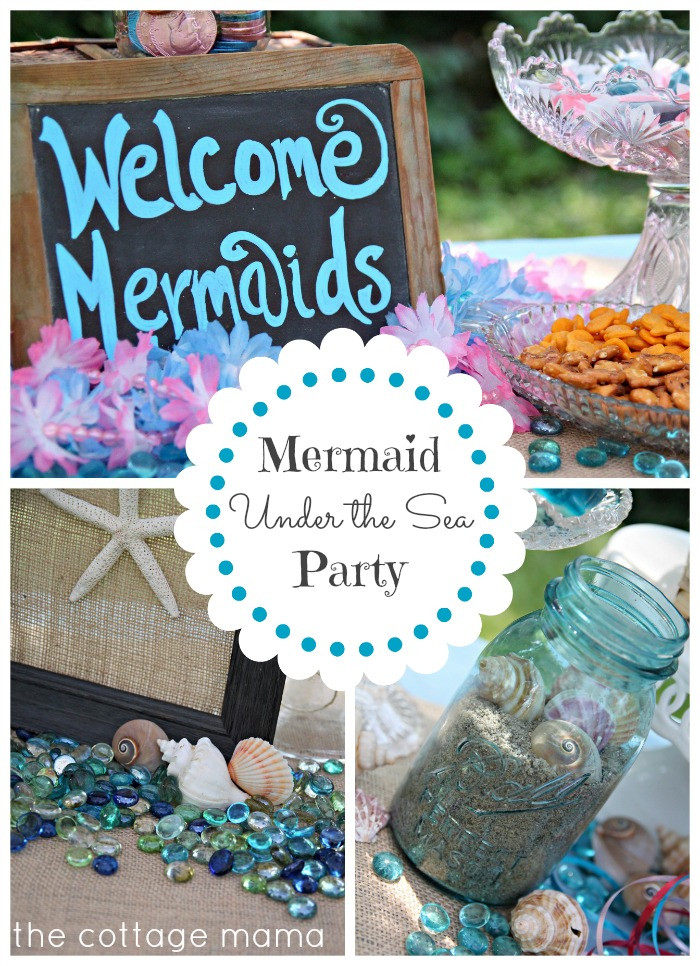 Mermaid Under The Sea Party Ideas  Mermaid Under the Sea 4th Birthday Party with Free