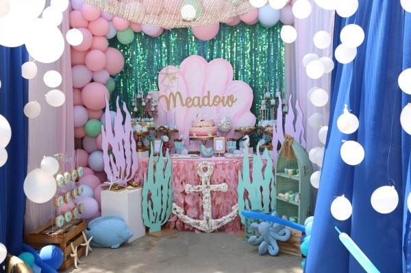 Mermaid Under The Sea Party Ideas  Pretty My Party A Party Planning Blog