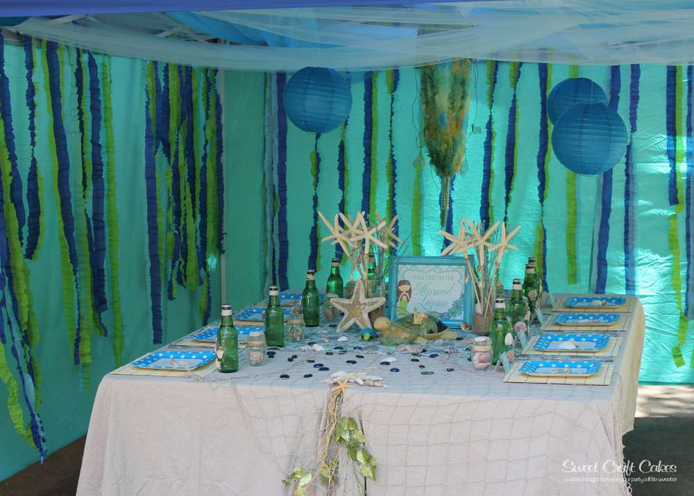 Mermaid Under The Sea Party Ideas  Under the Sea Mermaid Party Birthday Party Ideas