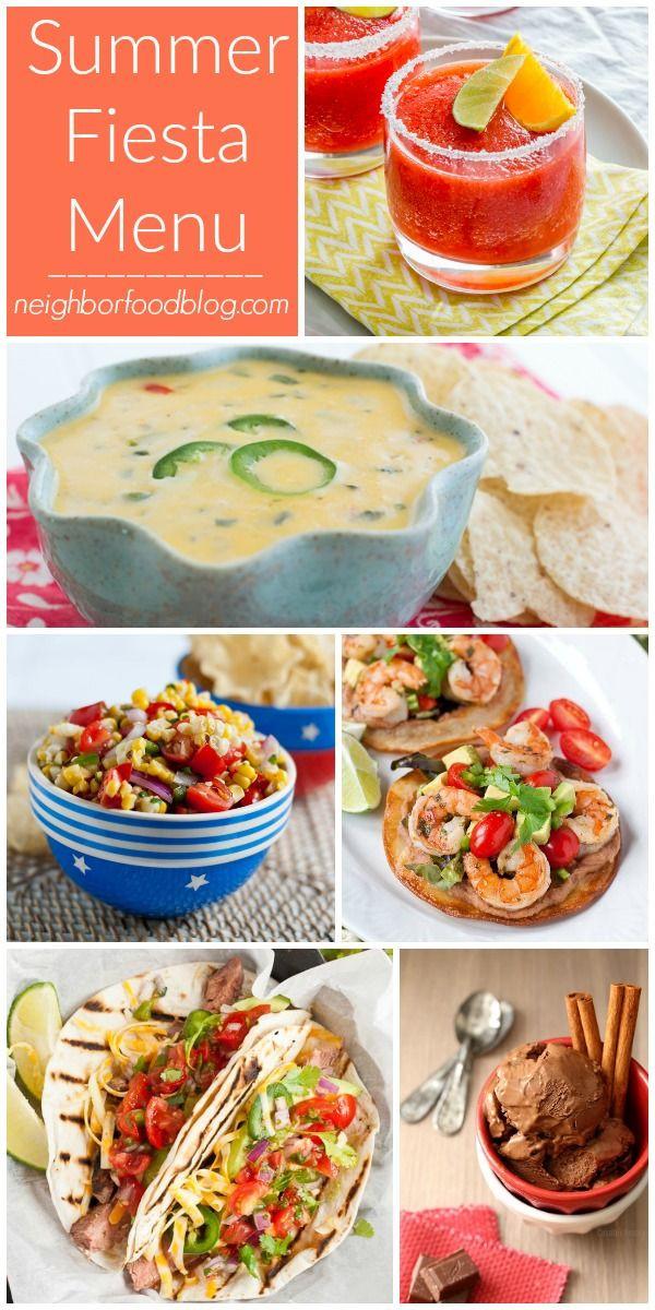 Mexican Dinner Party Menu Ideas  Best 25 Mexican fiesta menu ideas on Pinterest