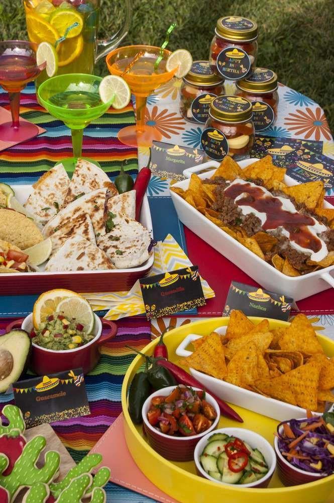 Mexican Dinner Party Menu Ideas  Fiesta Mexican Birthday Party Ideas