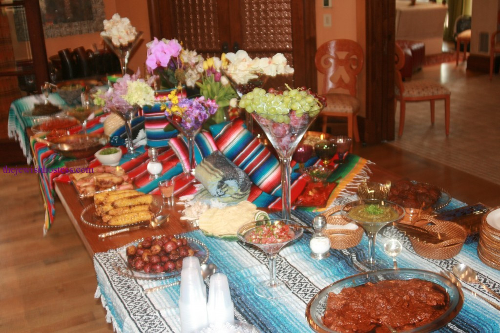 Mexican Dinner Party Menu Ideas  table settings A Fiesta Party Themed Dinner
