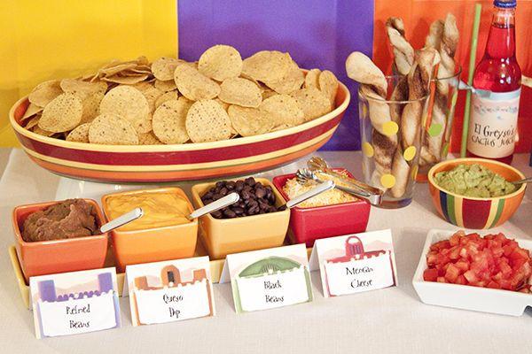 Mexican Dinner Party Menu Ideas  Food Create Your Own Nachos Bar via Piggy Bank Parties