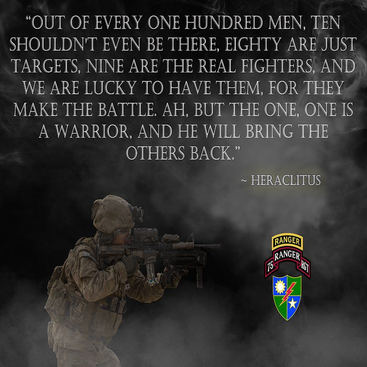 """Military Motivational Quotes  Army Rangers """"Warrior"""" Poster RANGERV45 War"""