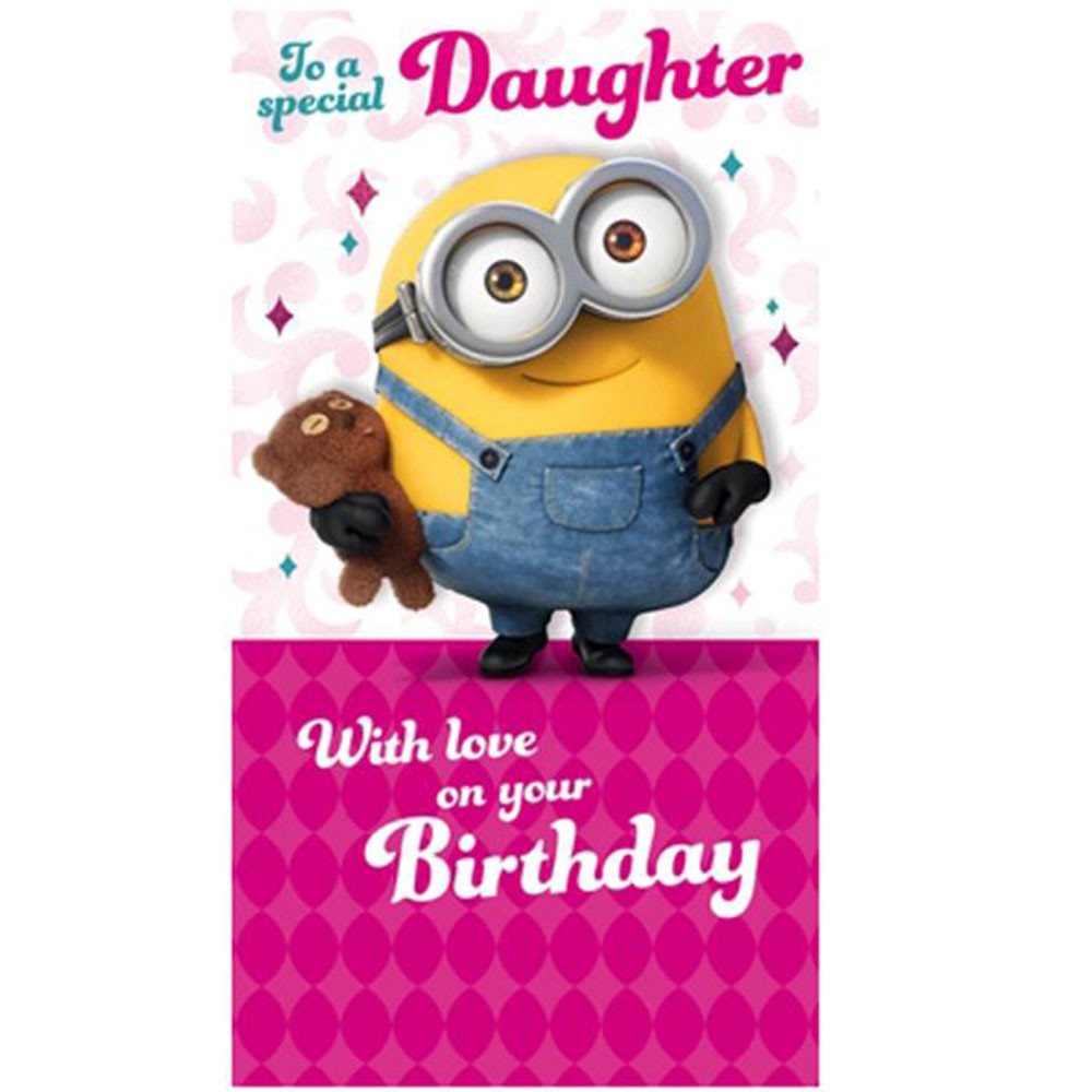 Minions Birthday Card Printable  Special Daughter Minions Birthday Card