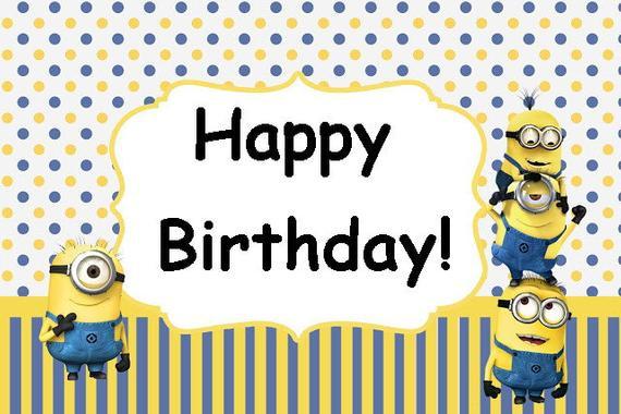 Minions Birthday Card Printable  MINIONS Minion Movie Birthday Party Card Set Instant
